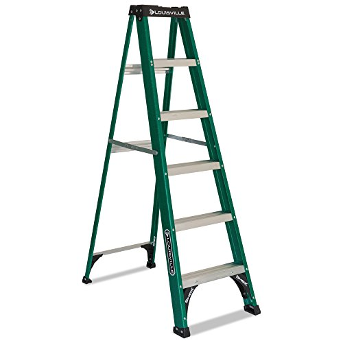 Multi Functional Fiberglass Green Folding Step Ladder with Multiple Tool Slots by Louisville