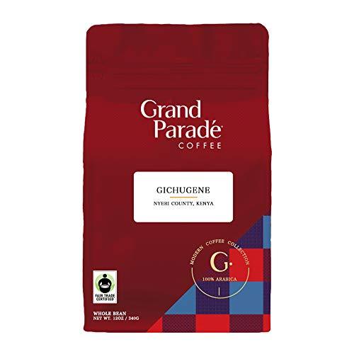 Kenya AA Whole Bean Coffee, Medium Roast, Gichugene Fairtrade, Direct Trade Coffee, 12 Ounce ()