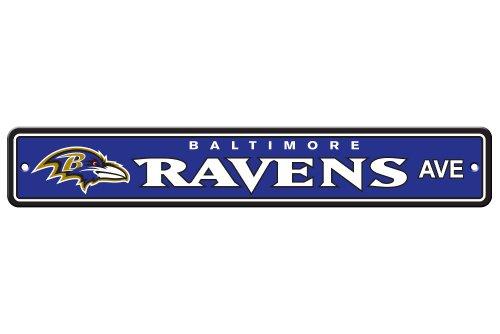 Fremont Die NFL Baltimore Ravens Plastic Street Sign