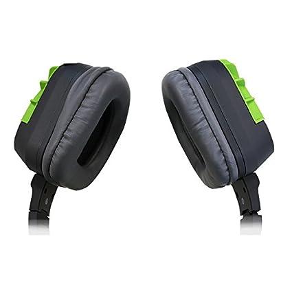KeepOut HX8 Binaural Diadema Verde, Gris auricular con micrófono - Auriculares con micrófono (PC/Juegos, 7.1 canales, 0,1 W, Binaural, Diadema, Verde, ...