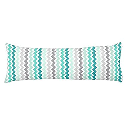 Amazon Turquoise Blue Chevron Body Pillow Cover Cotton Enchanting Covers For Body Pillows