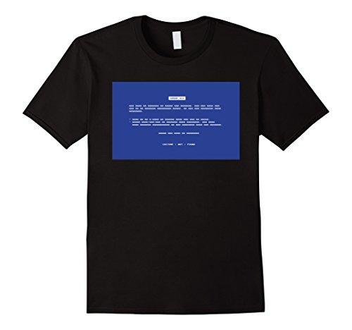 Error Page Costume (Mens Error 404 Costume Not Found Geeky Halloween Costume T-Shirt XL Black)