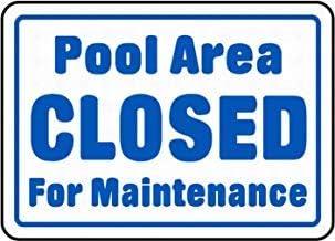 Señal de Advertencia de área de Piscina Cerrada con Texto en inglés Private Property Tin Metal Warning Sign Outdoor House Decor 8