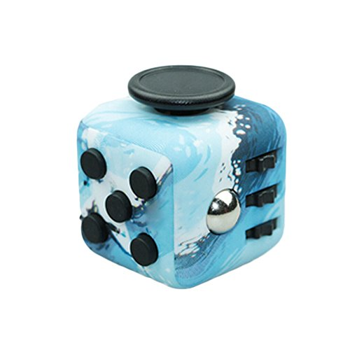 Amazon HongG Fidget Toy Blue Sea 6 Side Cube Relieve Stress Anxiety And Boredom Toys Games