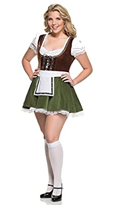 MHM Plus Size Sultry Beer Maiden Costume, Plus Size Bavarian Girl Costume