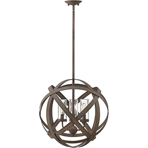 Outdoor Pendant 3 Light Fixtures with Vintage Iron Finish Metal Material Candelabra Bulb 19