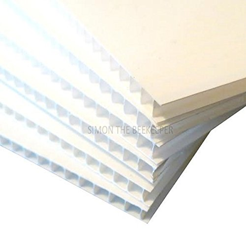 10 x large 4mm CORREX Sheets (1.2metres / 48 inches square) simonthebeekeeper