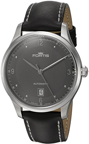 Fortis Men's 903.21.11 L.01 Tycoon Date Analog Display Automatic Self Wind Black Watch