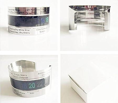 Ecloud Shop® Acero Inoxidable Pantalla Digital Termómetro Vino LCM