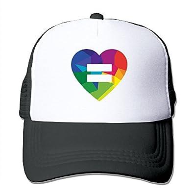 Love Wins Men's Adjustable Mesh Snapback Cap Hat
