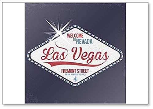 Las Vegas. Imán para nevera con texto en inglés