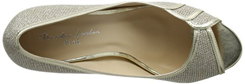 Pink by Paradox of London Paradox London Pink Women's Chester Open-Toe Heels Gold (Champagne) ZKWABbX