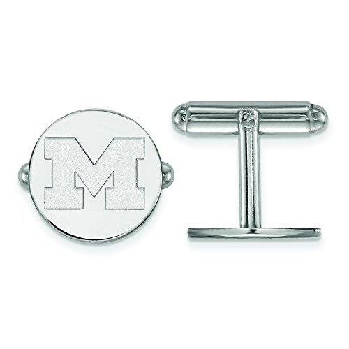 Cufflinks Michigan Wolverines - Michigan Cuff Links (Sterling Silver)