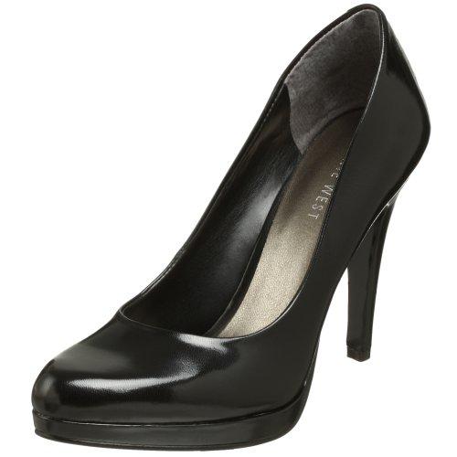 Nine West Women's Rocha Pump,Black Leather,11 M US Lea Adult Black Shoes