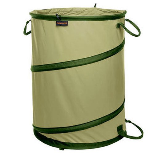 Fiskars 394050-1004 Kangaroo Collapsible Container Gardening Bag, 30 Gallon Capacity, Green
