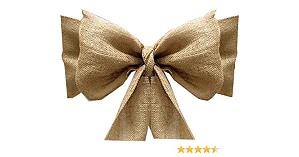 Sensational Amazon Com Mds Pack Of 10 Natural Burlap Chair Bow Sashes Ncnpc Chair Design For Home Ncnpcorg