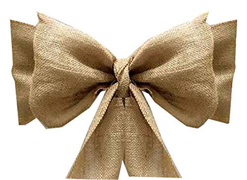 mds Pack of 150 Natural Burlap Chair Bow Sashes Natural Jute Country Vintage for Wedding and Events Supplies Party Decoration- Natural Jute Burlap Hessian Sashes