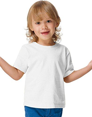 Hanes ComfortSoft Crewneck Toddler T-Shirt T120, 2T, White