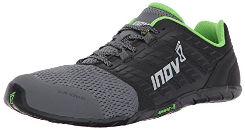 inov-8 Men's Bare-XF 210 v2 (M) Fashion-Sneakers, Grey/Black/Green, 10.5 D US