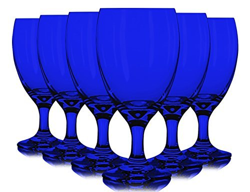 Libbey Cobalt Blue Iced Tea Glasses 16 oz. set of 6 - Additional Vibrant Colors Available by tabletop king