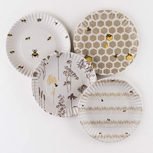 Busy Bees Melamine 9 Plates – Set of Four