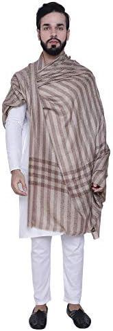 Exclusive Mens Woven Check Design - Extra Fine Australian Merino Wool -Wrap/Shawl - Perfect Gift