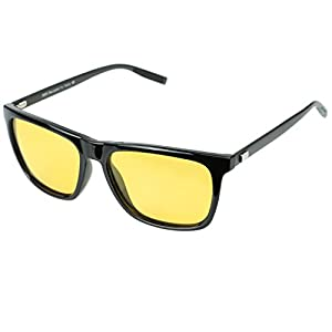 Duco Night vision Driving Glasses For Headlight Anti-glare Polarized Eyewear (Black)