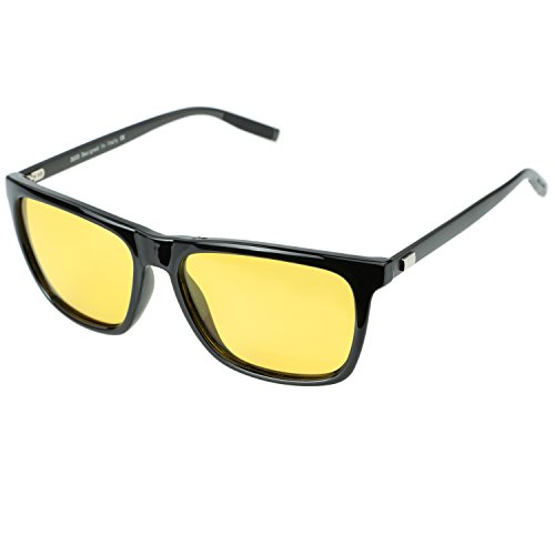 Duco Night vision Driving Glasses For Headlight Anti-glare Polarized Eyewear 3029 Black