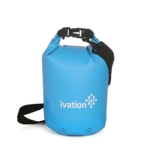 Ivation 5 Liter Waterproof Floating Dry Bag - Made Puncture-Proof PVC Polymer - Includes Quick-Detach Shoulder Strap - Reinforced Construction