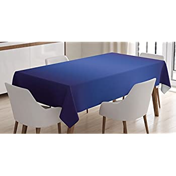 Ombre Tablecloth By Ambesonne, Night Sky Inspired Royal Blue Ombre Colored  Artsy Design Print For