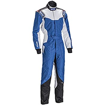 Amazon.com: Sparco ks-5 – Traje karting (Azul/Blanco/Negro ...