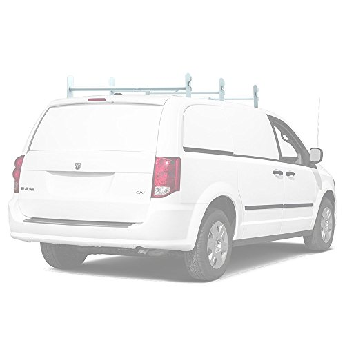 Matte White Model - AA-Racks Model DX36 Universal 3 Bar Drilling Van Roof Rack Heavy-Duty Adjustable Steel Rack Matte White