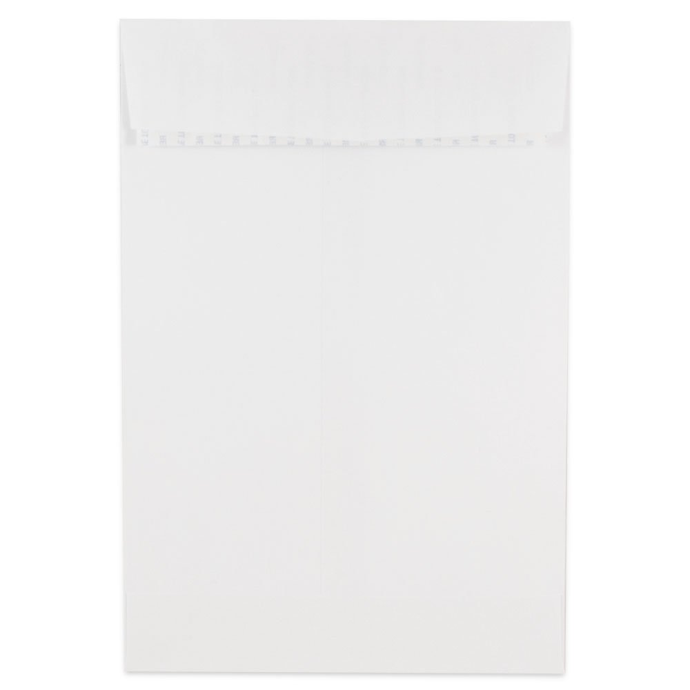 JAM PAPER 6 x 9 Open End Catalog Colored Envelopes with Peel & Seal Closure - White - 50/Pack