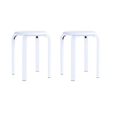 Superb Amazon Com Mji Wooden Round Stool Anti Slip Bent Wood Pabps2019 Chair Design Images Pabps2019Com