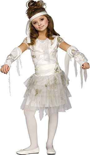 UHC Girl's Mummy Outfit Scary Theme Fancy Dress Child Halloween Costume, Child L (12-14)