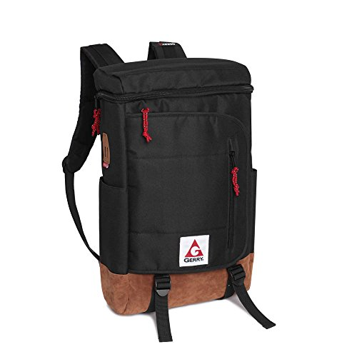 Baxter Bag - Gerry Outdoor - Baxter Top Load Backpack with Faux Suede Bottom, Black