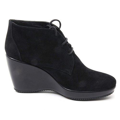 B4134 tronchetto donna HOGAN ATTRACTIVE MID CUT scarpa nero boot shoe woman Nero
