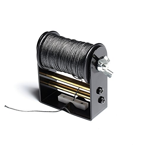 "Chuangtong Bow String Serving Jig Bow String Serving Thread 30 Meter/Roll 0.021"" Diameter for Various Bows (CT017,Black Jig Black Rolling)"