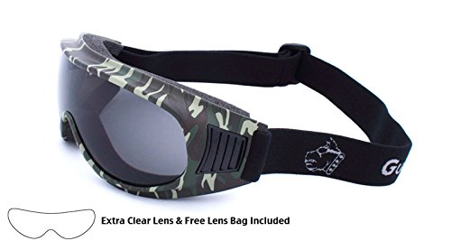Guard-Dogs, Aggressive Eyewear Commander 1 Camo Clear/Smoke w/FogStopper 2 Lens - Eyewear Z One