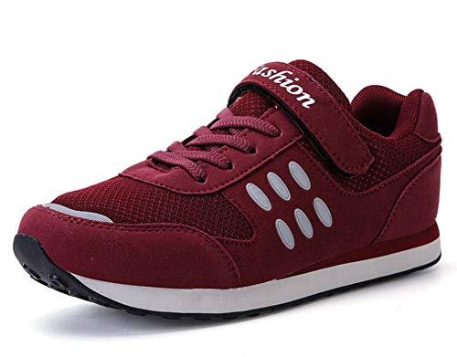GLSHI Mujer Respirable Aptitud Corriendo Zapatos 2018 Verano Ligero Deportes Zapatos Rojo