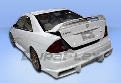 Duraflex Replacement for 2001-2005 Honda Civic 2DR Bomber Rear Bumper Cover - 1 Piece