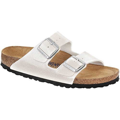 928e339bbe2ba Birkenstock Unisex Arizona Magic Galaxy White Birko-flor¿ Sandals - 6-6.5 2A (N) US Women (B0116D6WC4)