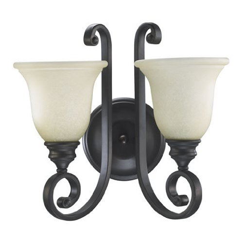 Quorum 5454-2-86 Bryant Wall Sconce, 2-Light, 200 Total Watts, Oiled Bronze