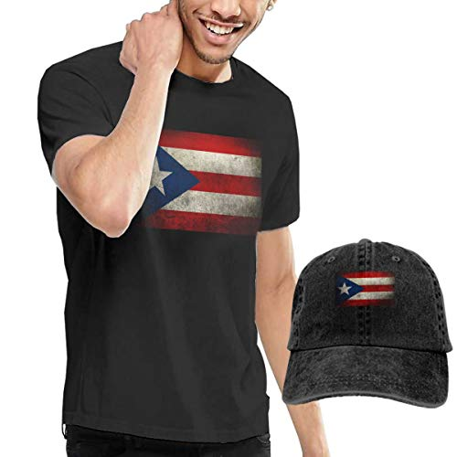 Cotton Basic Tank Top Tees Jersey Casual T-Shirts Unisex Vintage Adjustable Baseball Caps Dad Hats for Mens Womens Mans Vintage Puerto Rico (Top Hat Puerto Rico)