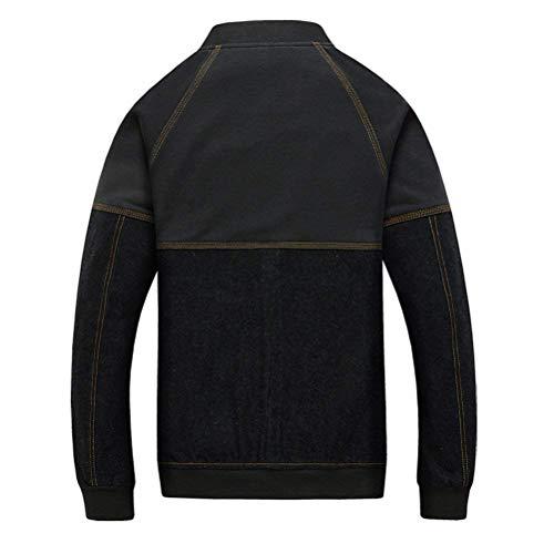 Coat Outdoor Mens Heavyweight Jacket Battercake Sportswear Padre's Classic Regalo Denim Blu Di Comodo Teenagers Halloween wzqxRfnTXZ