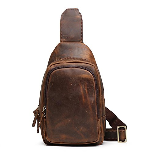 Haixin Man Bag, Crossbody Shoulder Bag, Backpack Outdoor Backpack For Casual Business Travel Hiking Sport Brown Dhcy-02