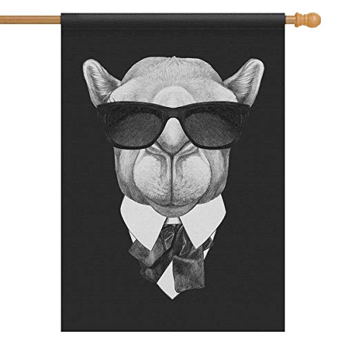 - INTERESTPRINT Funny Camel in Suit with Sunglasses Hipster Animal Decorative Flag House Flag House Banner for Wishing Party Wedding Yard Home Decor 28