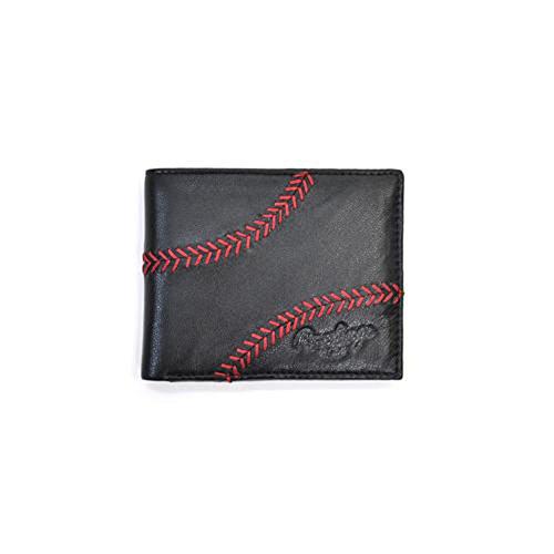 Rawlings Men's Baseball Stitch Bifold, Black