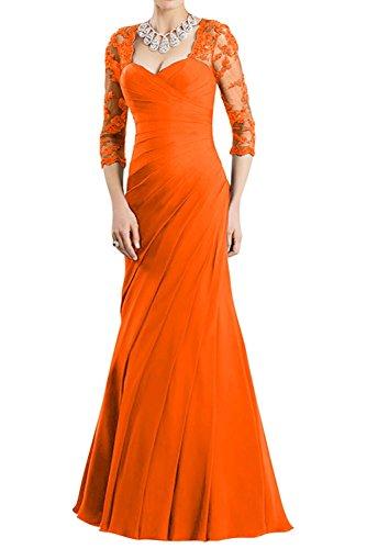 La Braut Neu Orange Rot Damen Abschlussballkleider Dunkel Abendkleider Partykleider Lang Elegant Ballkleider fesltichkleider mia wwCU5qr