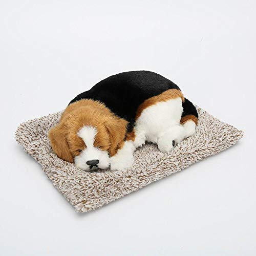 AFFLEXY 車内用デコレーション 犬のおもちゃ 車 装飾 車 チャコール 空気清浄 カーボンバッグ 車内装飾 シミュレーション 犬 活性炭バッグ おもちゃの犬 26.5*20*8.5(cm) マルチカラー NDAPCB-D